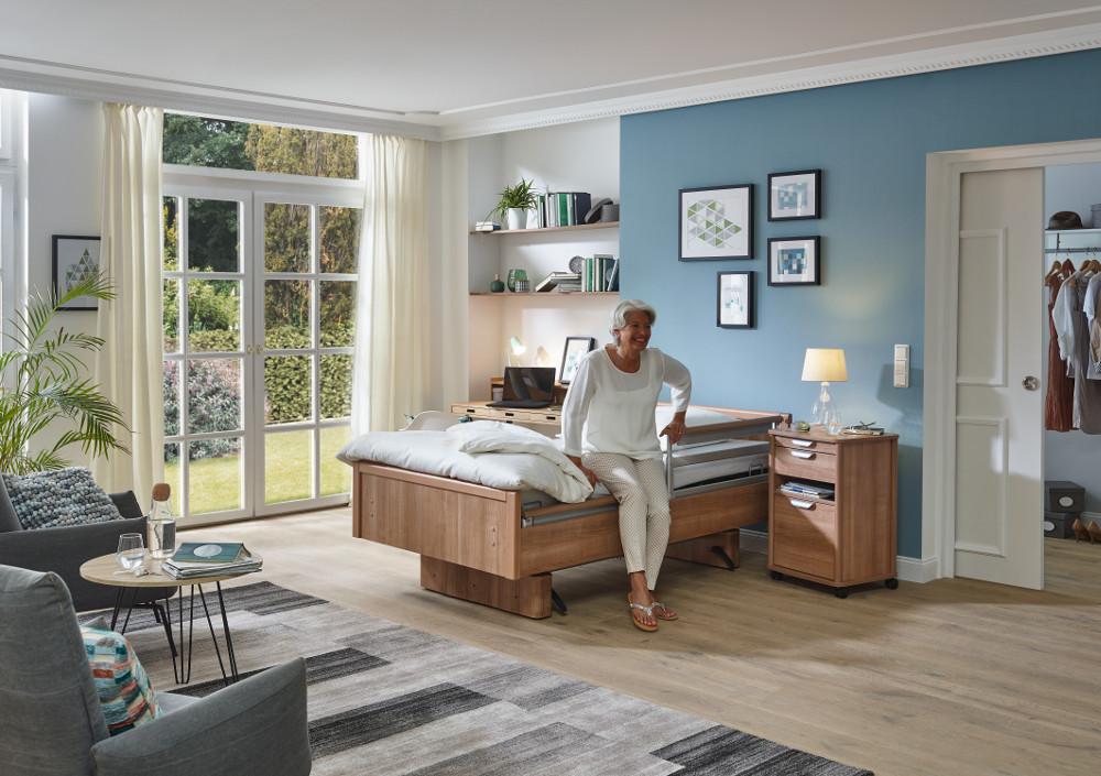 Der hohe Anspruch, den wir an unsere Pflegebetten stellen, findet sich auch im Komfortbett BonCasa wieder.