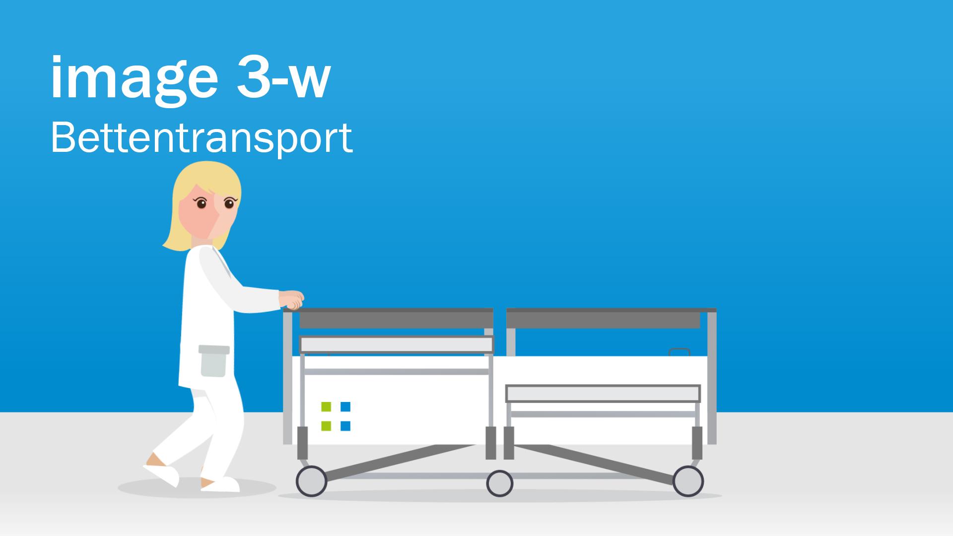 Klinikbett mit Transport-Plus
